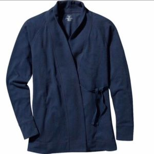 Patagonia Vitaliti Wrap Cardigan Sweater Blue Lg